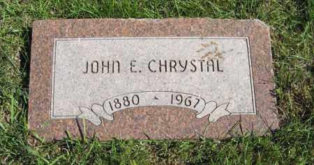 CHRYSTAL, JOHN E. - Lancaster County, Nebraska   JOHN E. CHRYSTAL - Nebraska Gravestone Photos