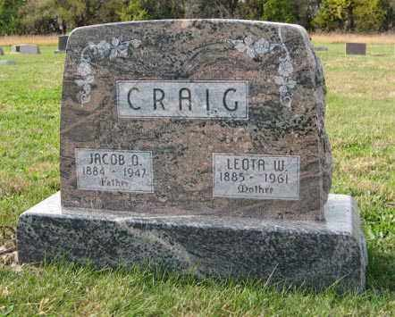 CRAIG, JACOB O. - Lancaster County, Nebraska | JACOB O. CRAIG - Nebraska Gravestone Photos