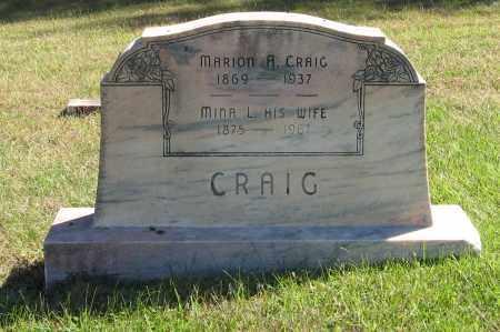 CRAIG, MARION A. - Lancaster County, Nebraska | MARION A. CRAIG - Nebraska Gravestone Photos