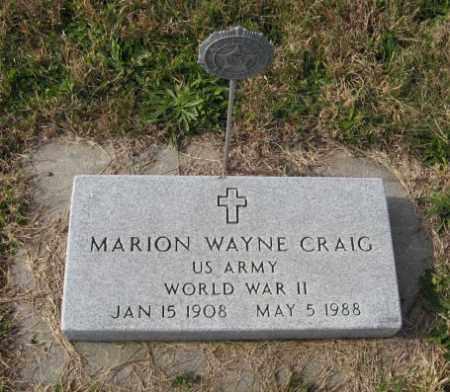 CRAIG, MARION WAYNE - Lancaster County, Nebraska | MARION WAYNE CRAIG - Nebraska Gravestone Photos