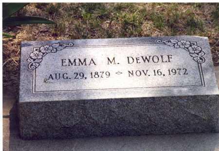 DEWOLF, EMMA - Lancaster County, Nebraska | EMMA DEWOLF - Nebraska Gravestone Photos