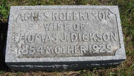 ROBERTSON DICKSON, AGNES - Lancaster County, Nebraska | AGNES ROBERTSON DICKSON - Nebraska Gravestone Photos
