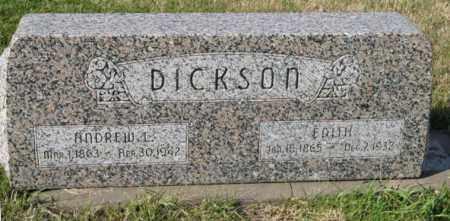 DICKSON, EDITH - Lancaster County, Nebraska | EDITH DICKSON - Nebraska Gravestone Photos