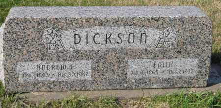 DICKSON, EDITH - Lancaster County, Nebraska | EDITH DICKSON - Nebraska Gravestone Photos