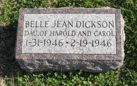 DICKSON, BELLE JEAN - Lancaster County, Nebraska | BELLE JEAN DICKSON - Nebraska Gravestone Photos