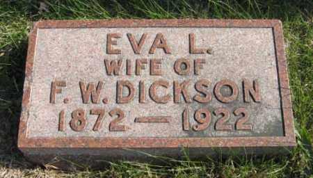DICKSON, EVA L. - Lancaster County, Nebraska | EVA L. DICKSON - Nebraska Gravestone Photos