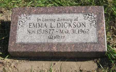 DICKSON, EMMA L. - Lancaster County, Nebraska | EMMA L. DICKSON - Nebraska Gravestone Photos