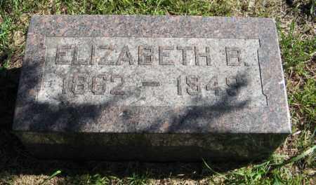 DICKSON, ELIZABETH B. - Lancaster County, Nebraska | ELIZABETH B. DICKSON - Nebraska Gravestone Photos