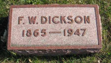 DICKSON, F. W. - Lancaster County, Nebraska | F. W. DICKSON - Nebraska Gravestone Photos