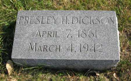 DICKSON, PRESLEY H. - Lancaster County, Nebraska | PRESLEY H. DICKSON - Nebraska Gravestone Photos