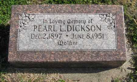 DICKSON, PEARL L. - Lancaster County, Nebraska | PEARL L. DICKSON - Nebraska Gravestone Photos