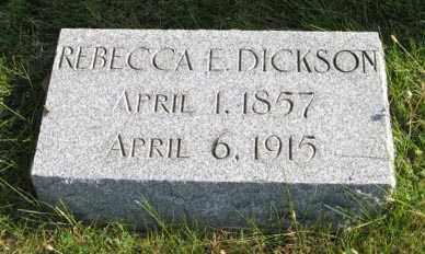 DICKSON, REBECCA E. - Lancaster County, Nebraska   REBECCA E. DICKSON - Nebraska Gravestone Photos