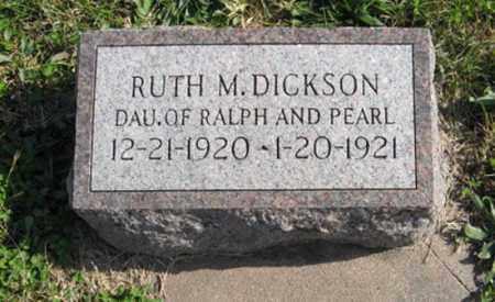 DICKSON, RUTH M. - Lancaster County, Nebraska | RUTH M. DICKSON - Nebraska Gravestone Photos