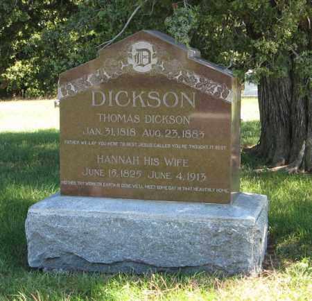 DICKSON, HANNAH - Lancaster County, Nebraska | HANNAH DICKSON - Nebraska Gravestone Photos