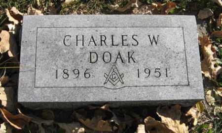 DOAK, CHARLES W. - Lancaster County, Nebraska | CHARLES W. DOAK - Nebraska Gravestone Photos