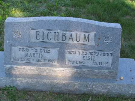 EICHBAUM, ELSIE - Lancaster County, Nebraska | ELSIE EICHBAUM - Nebraska Gravestone Photos
