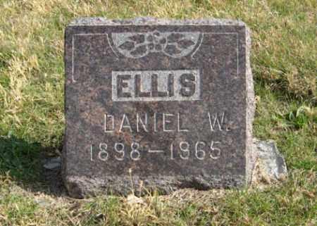 ELLIS, DANIEL W. - Lancaster County, Nebraska | DANIEL W. ELLIS - Nebraska Gravestone Photos
