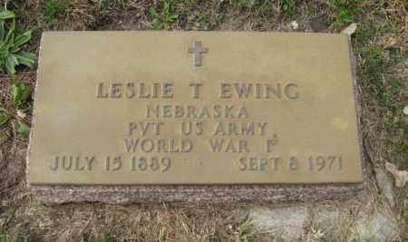 EWING, LESLIE T. - Lancaster County, Nebraska | LESLIE T. EWING - Nebraska Gravestone Photos