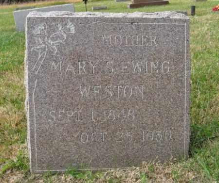 WESTON EWING, MARY S. - Lancaster County, Nebraska   MARY S. WESTON EWING - Nebraska Gravestone Photos