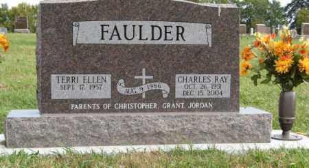 FAULDER, CHARLES RAY - Lancaster County, Nebraska | CHARLES RAY FAULDER - Nebraska Gravestone Photos