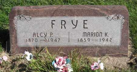 FRYE, ALCY P. - Lancaster County, Nebraska | ALCY P. FRYE - Nebraska Gravestone Photos