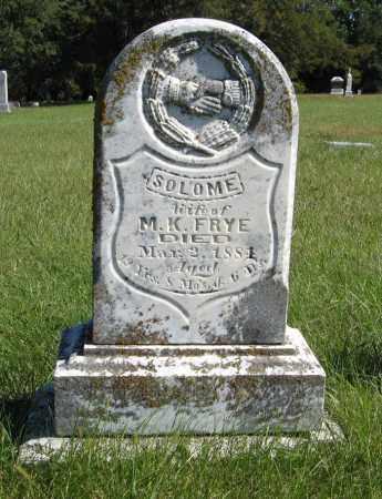 FRYE, SOLOME - Lancaster County, Nebraska | SOLOME FRYE - Nebraska Gravestone Photos