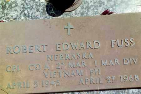 FUSS, ROBERT EDWARD - Lancaster County, Nebraska | ROBERT EDWARD FUSS - Nebraska Gravestone Photos