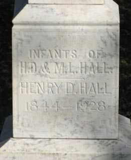 HALL, HENRY D. (CLOSEUP) - Lancaster County, Nebraska | HENRY D. (CLOSEUP) HALL - Nebraska Gravestone Photos