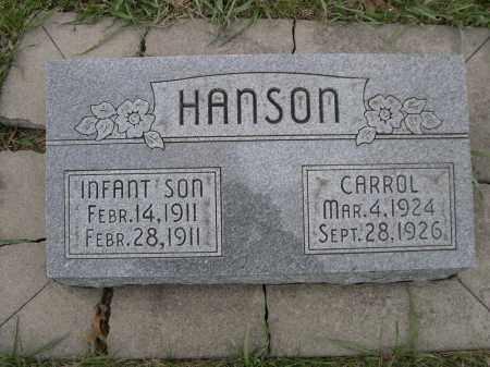 HANSON, INFANT SON - Lancaster County, Nebraska | INFANT SON HANSON - Nebraska Gravestone Photos