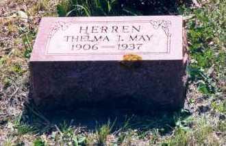 MAY HERREN, THELMA I. - Lancaster County, Nebraska | THELMA I. MAY HERREN - Nebraska Gravestone Photos