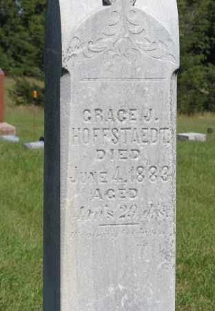 HOFFSTAEDT, GRACE J. (CLOSEUP) - Lancaster County, Nebraska   GRACE J. (CLOSEUP) HOFFSTAEDT - Nebraska Gravestone Photos