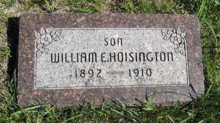 HOISINGTON, WILLIAM E. - Lancaster County, Nebraska | WILLIAM E. HOISINGTON - Nebraska Gravestone Photos