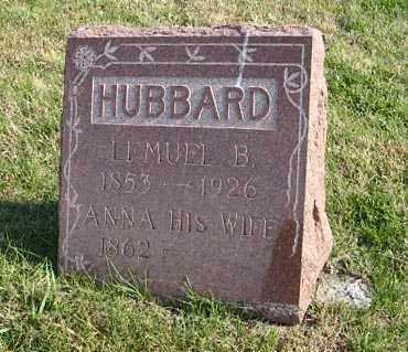 HUBBARD, LEMUEL B. - Lancaster County, Nebraska | LEMUEL B. HUBBARD - Nebraska Gravestone Photos