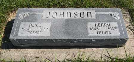 JOHNSON, ALICE - Lancaster County, Nebraska   ALICE JOHNSON - Nebraska Gravestone Photos