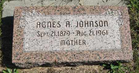 JOHNSON, AGNES A. - Lancaster County, Nebraska   AGNES A. JOHNSON - Nebraska Gravestone Photos