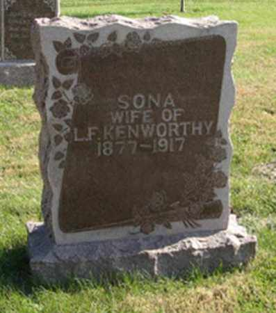 KENWORTHY, SONA - Lancaster County, Nebraska | SONA KENWORTHY - Nebraska Gravestone Photos