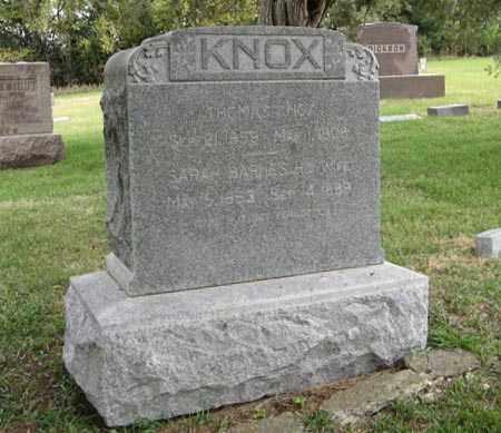 KNOX, SARAH - Lancaster County, Nebraska | SARAH KNOX - Nebraska Gravestone Photos