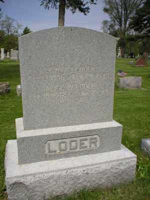 LODER, ALICE - Lancaster County, Nebraska | ALICE LODER - Nebraska Gravestone Photos