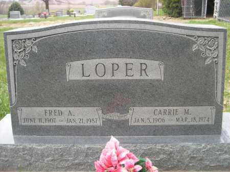 LOPER, CARRIE M. - Lancaster County, Nebraska | CARRIE M. LOPER - Nebraska Gravestone Photos