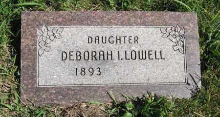 LOWELL, DEBORAH I. - Lancaster County, Nebraska | DEBORAH I. LOWELL - Nebraska Gravestone Photos