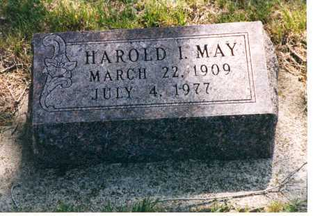 MAY, HAROLD I. - Lancaster County, Nebraska | HAROLD I. MAY - Nebraska Gravestone Photos