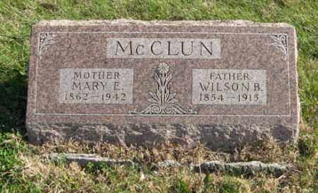 MCCLUN, MARY E. - Lancaster County, Nebraska | MARY E. MCCLUN - Nebraska Gravestone Photos