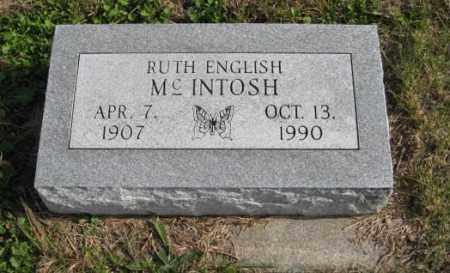 ENGLISH MCINTOSH, RUTH - Lancaster County, Nebraska | RUTH ENGLISH MCINTOSH - Nebraska Gravestone Photos