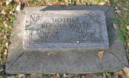 MEYER, BERTHA - Lancaster County, Nebraska | BERTHA MEYER - Nebraska Gravestone Photos
