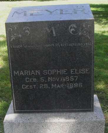 MEYER, MARIAN SOPHIE ELISE - Lancaster County, Nebraska | MARIAN SOPHIE ELISE MEYER - Nebraska Gravestone Photos