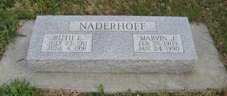 NADERHOFF, MARVIN J. - Lancaster County, Nebraska | MARVIN J. NADERHOFF - Nebraska Gravestone Photos