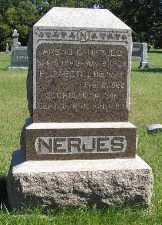 NERJES, GEORGE - Lancaster County, Nebraska | GEORGE NERJES - Nebraska Gravestone Photos