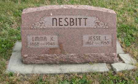 NESBITT, EMMA K. - Lancaster County, Nebraska | EMMA K. NESBITT - Nebraska Gravestone Photos