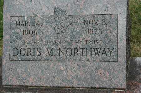 NORTHWAY, DORIS M. - Lancaster County, Nebraska | DORIS M. NORTHWAY - Nebraska Gravestone Photos