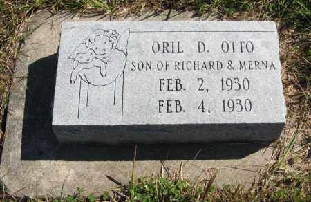 OTTO, ORIL D. - Lancaster County, Nebraska | ORIL D. OTTO - Nebraska Gravestone Photos